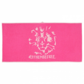 УРСКОГ Банное полотенце,лев,розовый